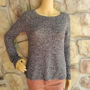 AMERICAN EAGLE | Gray & Black Long Sleeve Sweater